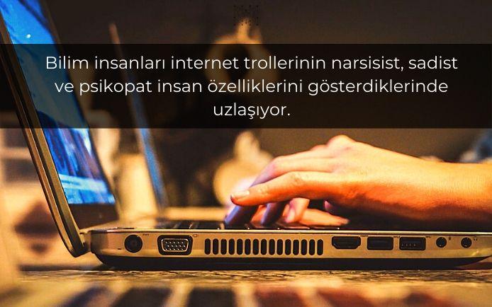 Bilim insanları internet trollerinin narsisist, sadist ve psikopat insan özelliklerini gösterdiklerinde uzlaşıyor.