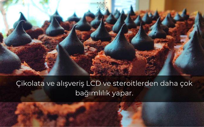 Çikolata ve alışveriş LCD ve steroitlerden daha çok bağımlılık yapar.