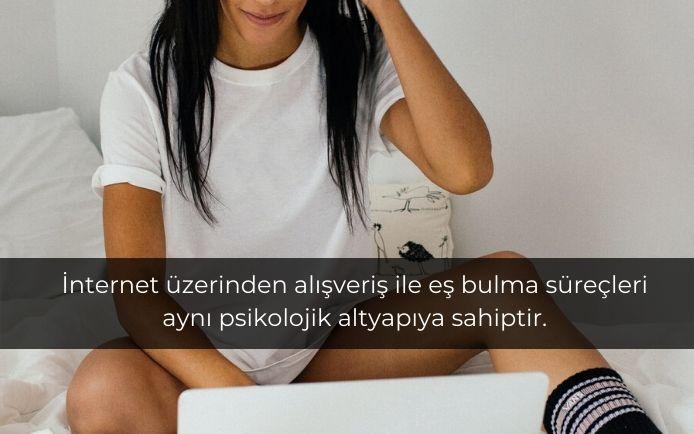İnternet üzerinden alışveriş ile eş bulma süreçleri aynı psikolojik altyapıya sahiptir.